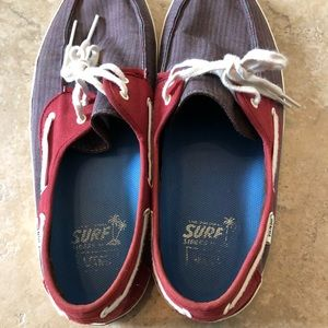 Vans Shoes - Vans Mens Original Surf Siders Canvas Boat Shoes